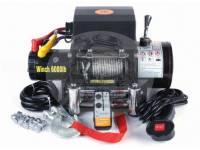 Лебедка электрическая 12V Electric Winch 6000lbs / 2722 кг (3 контакта) с кевларовым тросом 8mm 1525