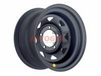 Диск колесный стальной УАЗ R16 5x139.7 8x16 ET-19 А17 (черный матовый) OFF-ROAD Wheels