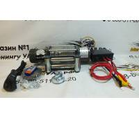 Лебедка электрическая 12V Electric Winch GRIZZLY F 12000lbs / 5443 кг (блок управления и механизм влагозащищены (IP66)) стальной трос BZ12000F